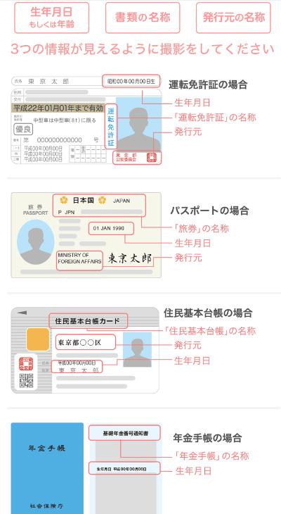 YCCアプリの年齢確認方法