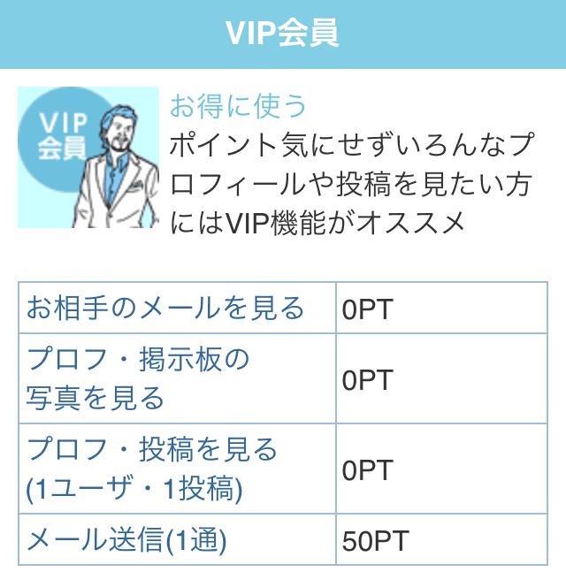 YYC VIP会員ポイント画面